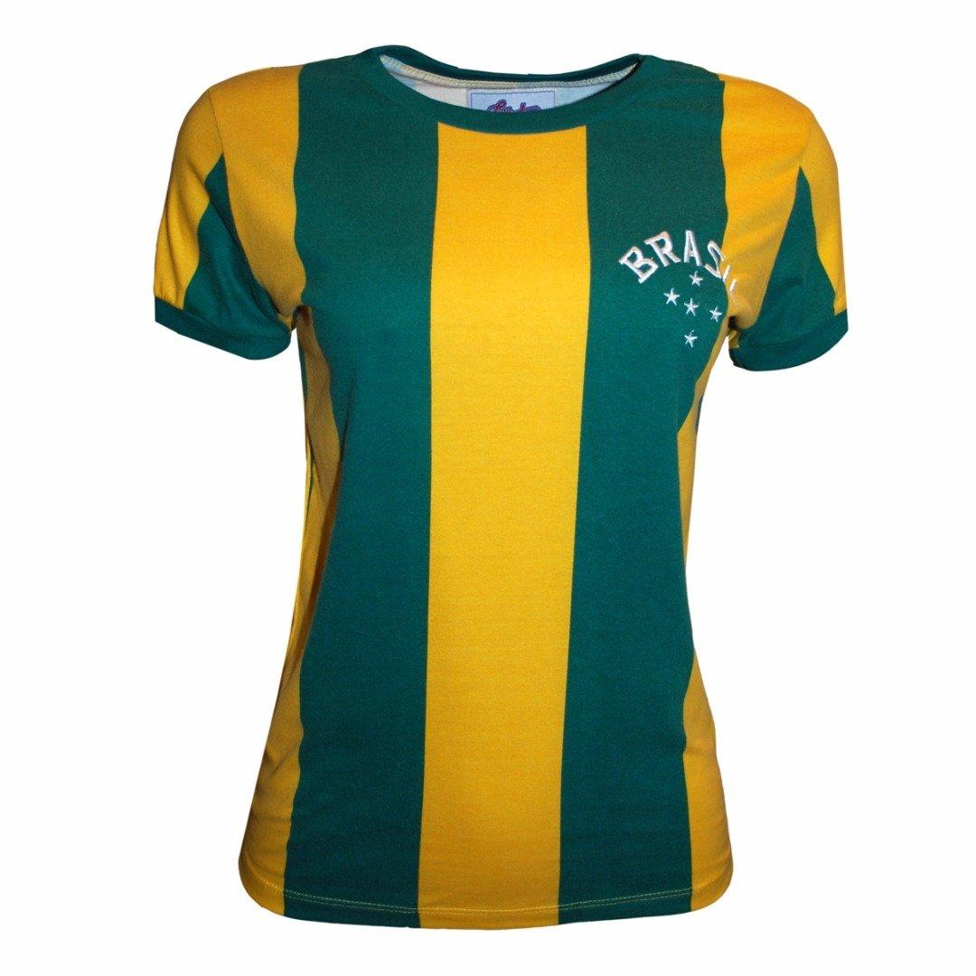 29b1e9fb7d Camisa Liga Retrô Brasil 1916 - Verde e Amarelo - Compre Agora ...