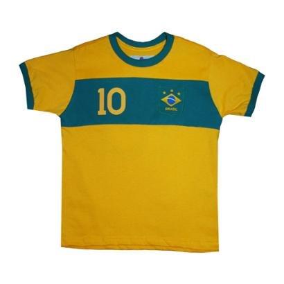 Camisa Liga Retrô Brasil Faixa Infantil - Unissex