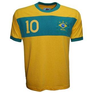 Camisa Liga Retrô Brasil Faixa Masculina
