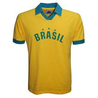 Camisa Liga Retrô Brasil Polo Estrela Masculina