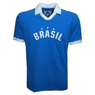 Camisa Liga Retrô Brasil Polo Estrelas Masculina