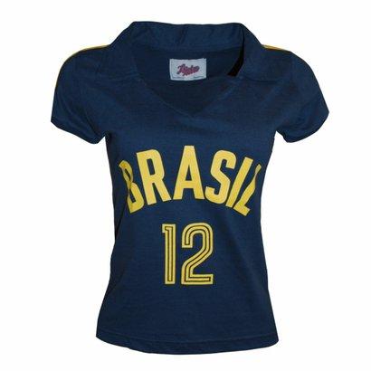 Camisa Liga Retrô Brasil Vôlei 1984 - Feminino