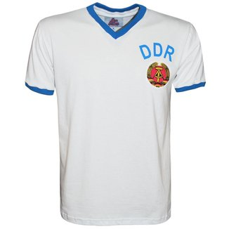 Camisa Liga Retrô DDR 1974 Alemanha Oriental Masculina
