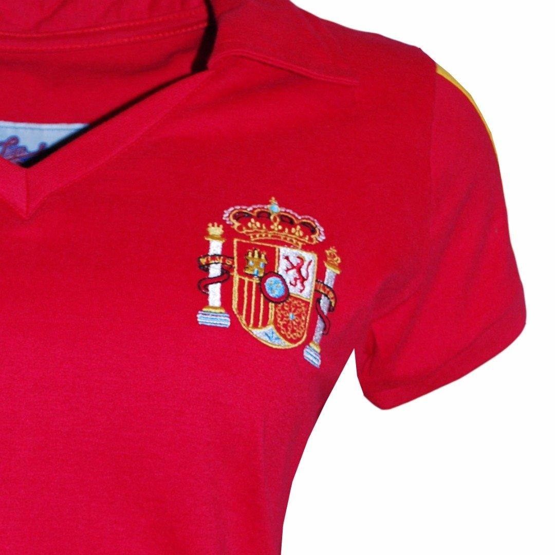 Retrô Camisa Vermelho Liga Espanha Camisa Liga 6wU76T