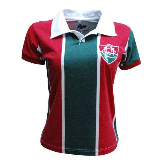 Camisa Liga Retrô Fluminense 1913 - Vermelho+Verde