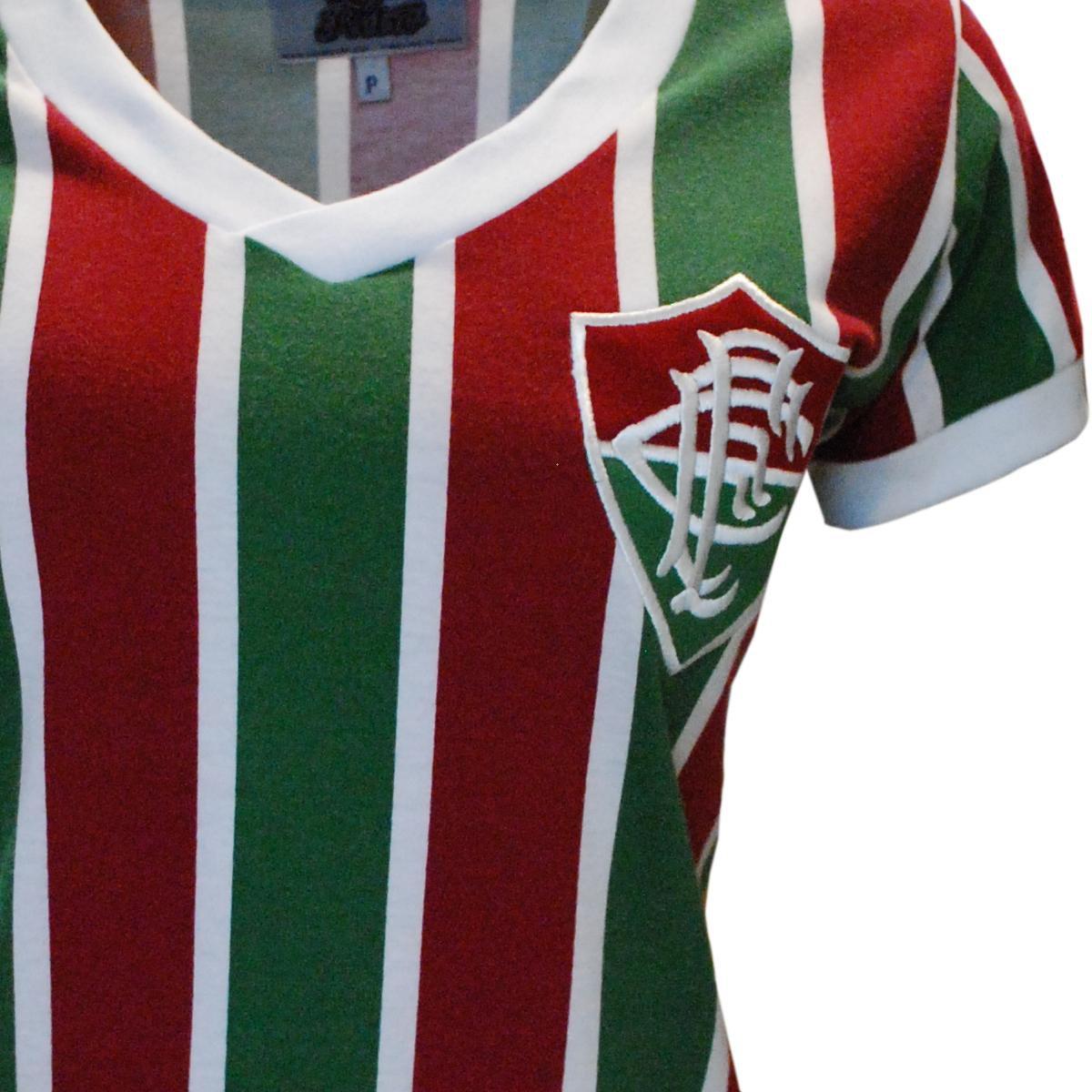 Mundial Verde Liga 1952 Retrô Feminino Fluminense e Vermelho Camisa Ct8Fqx