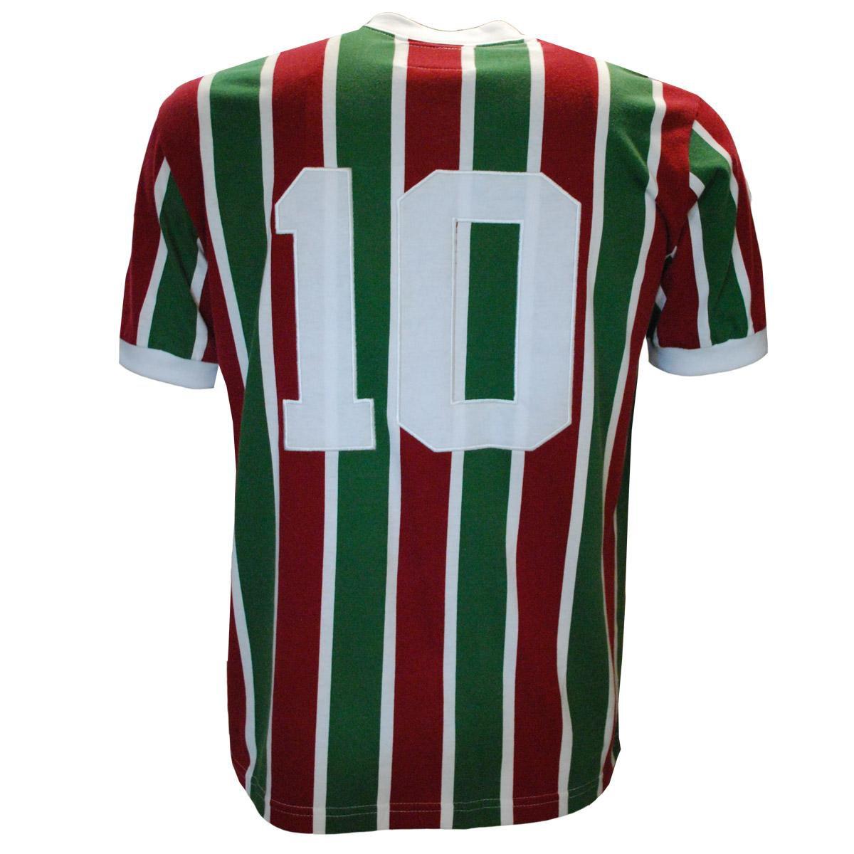 4d38b9a27a Camisa Liga Retrô Fluminense Mundial 1952 - Vermelho e Verde ...