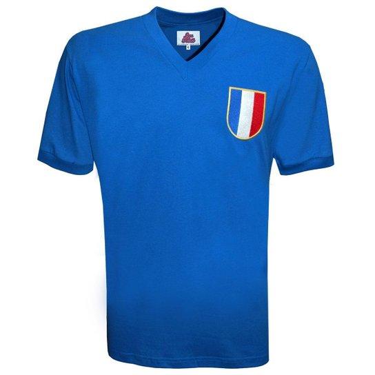 Camisa Liga Retrô França 1968 - Azul