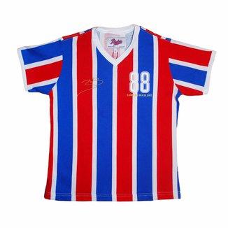 Camisa Liga Retrô Infantil Bobô 1988 Listrado