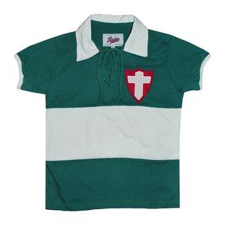 Camisa Liga Retrô Palmeiras Palestra Italia 1916 Infantil Masculina