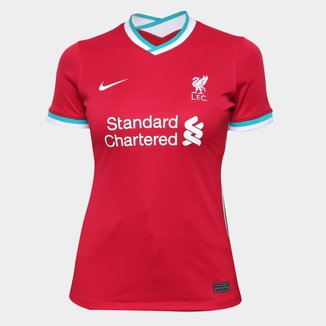 Camisa Liverpool Home 20/21 s/n° Torcedor Nike Feminina