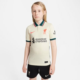 Camisa Liverpool Juvenil Away 21/22 s/n° Torcedor Nike