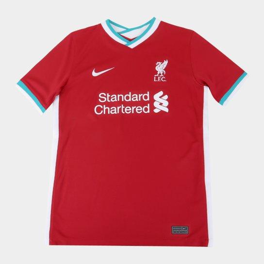 Camisa Liverpool Juvenil Home 20 21 S N Torcedor Nike Vermelho E Branco Netshoes