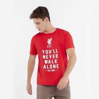Camisa Liverpool Momentus Careca Meia Malha Vermelho