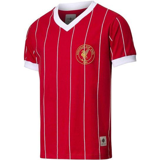 Camisa Liverpool Retrô 1984 Masculino - Vermelho