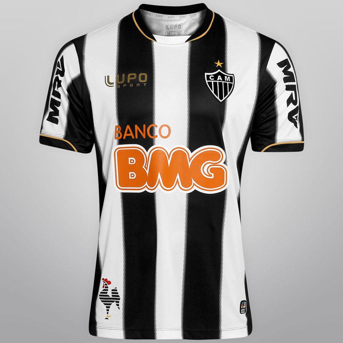 11d27fc5d2 Camisa Lupo Atlético Mineiro I 13 14 nº10 - Ronaldinho - Compre Agora