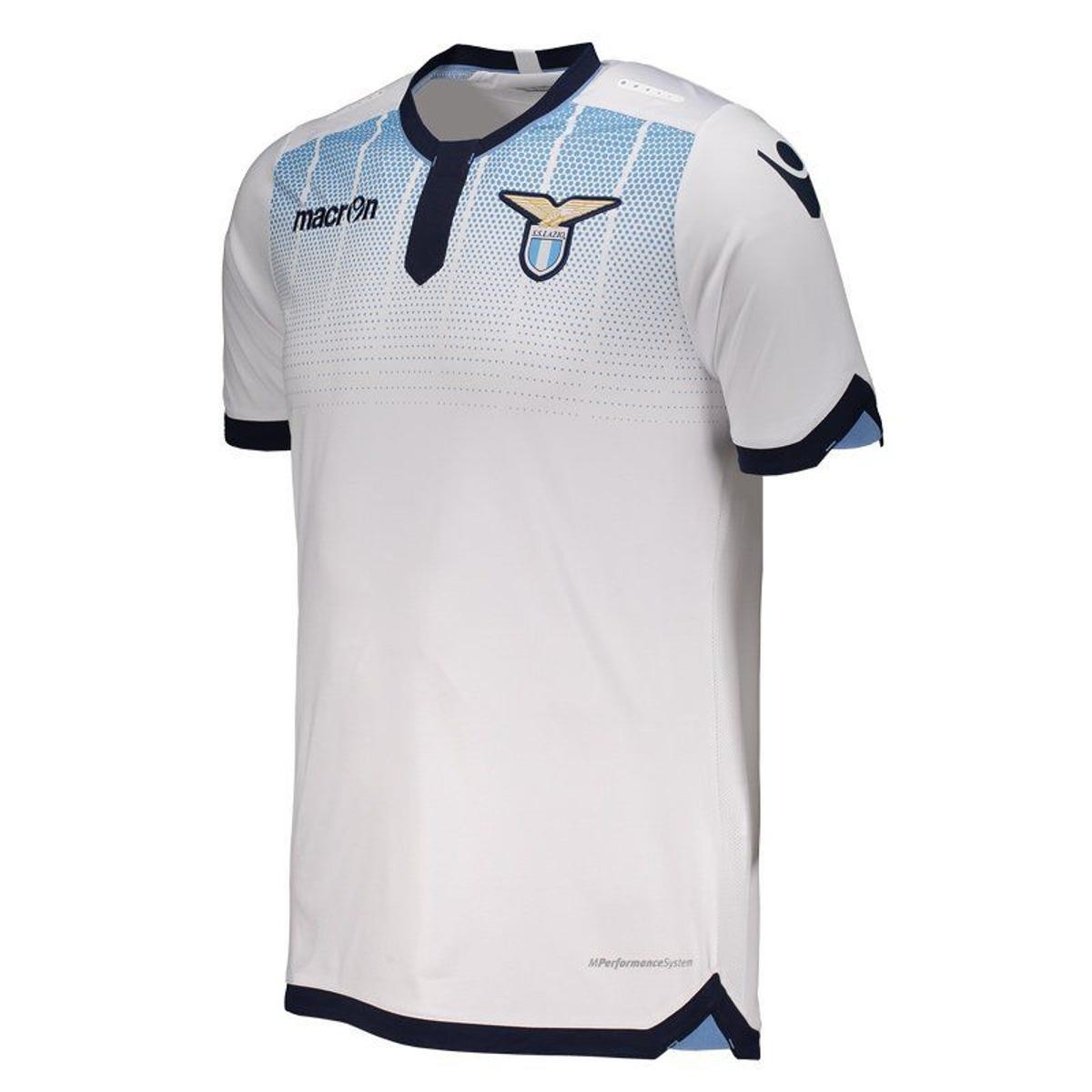 Camisa Macron Lazio Away 2016 Masculina - Branco - Compre Agora ... 1f55667113926