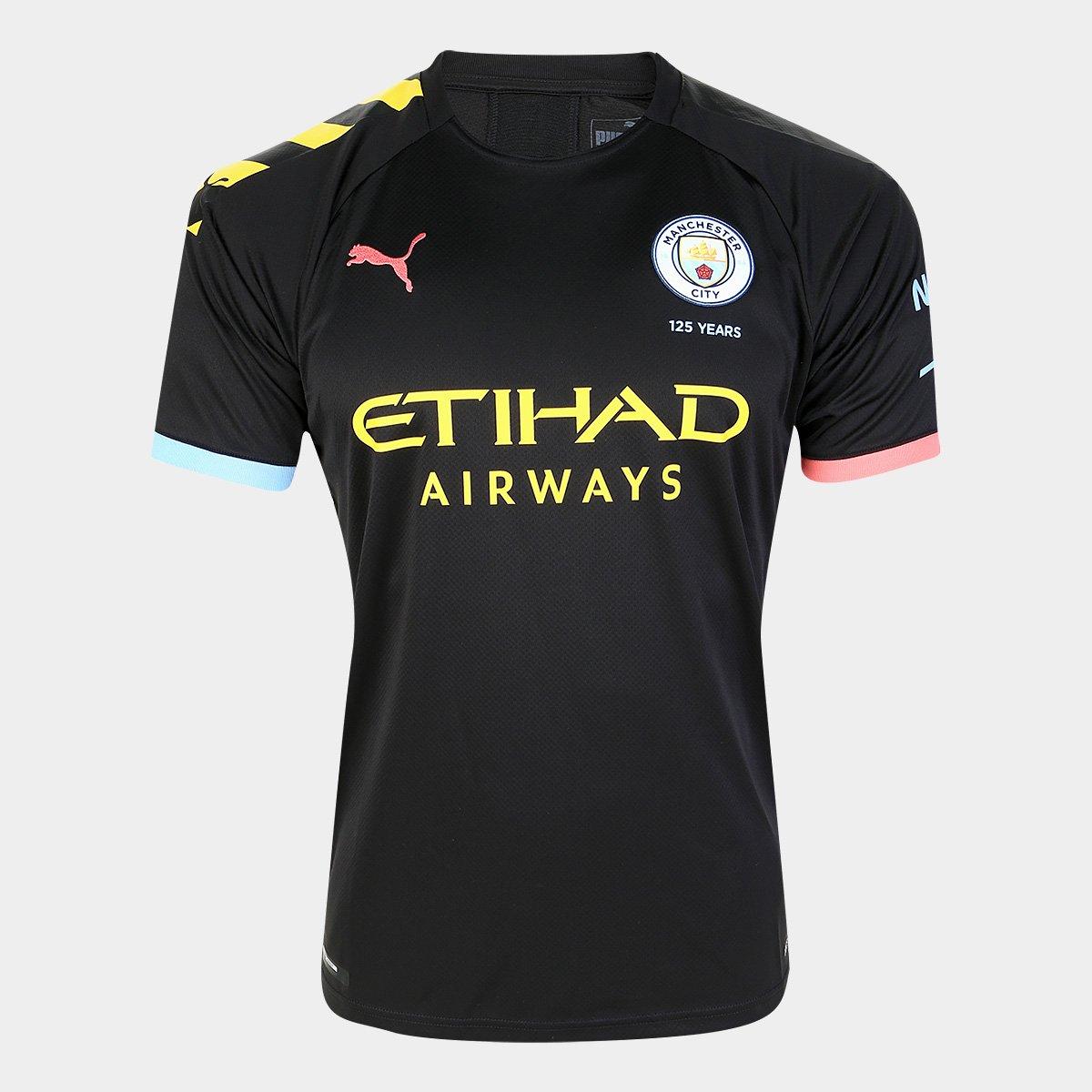 En Vivo Limpia el cuarto nosotros  Camisa Manchester City Away 19/20 s/n° - Torcedor Puma - Preto e Laranja |  Netshoes