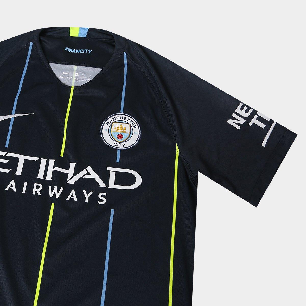 ... Camisa Manchester City Away 2018 s n° - Torcedor Nike Masculina ... 06785b2b00b09