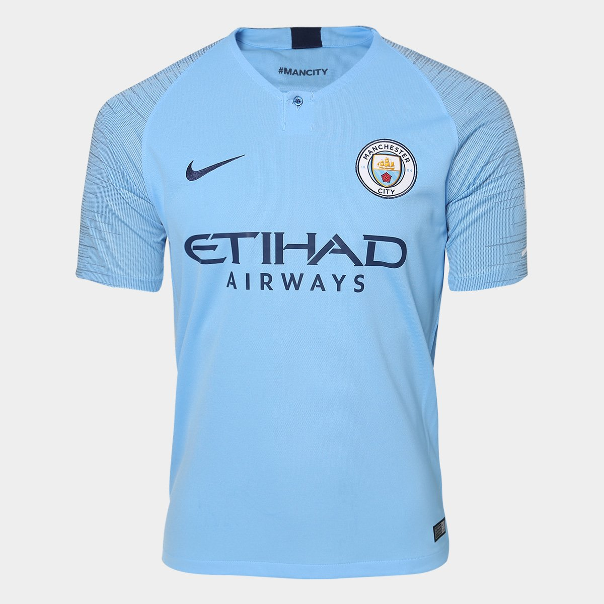 Camisa Manchester City Home 2018 s n° - Torcedor Nike Masculina ... 715a575081199
