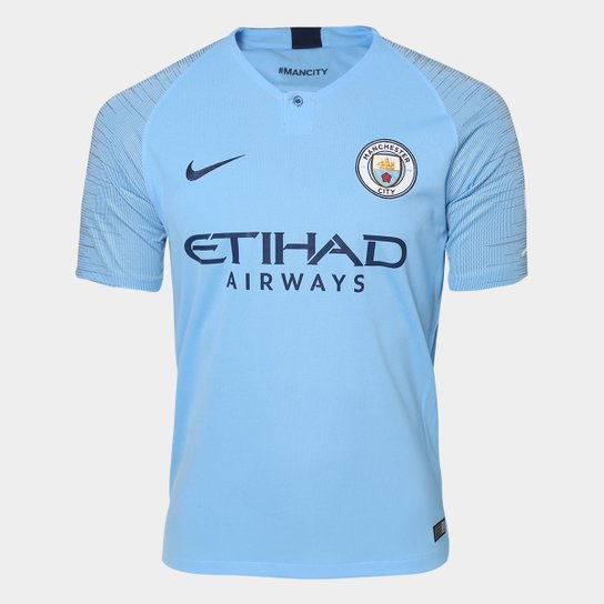 Camisa Manchester City Home 2018 s/n° - Torcedor Nike Masculina - Azul Claro