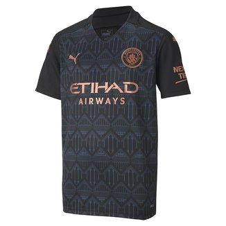Camisa Manchester City Juvenil Away 20/21 s/n° Torcedor Puma