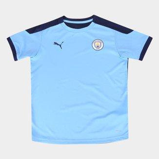 Camisa Manchester City Juvenil Treino 20/21 Puma