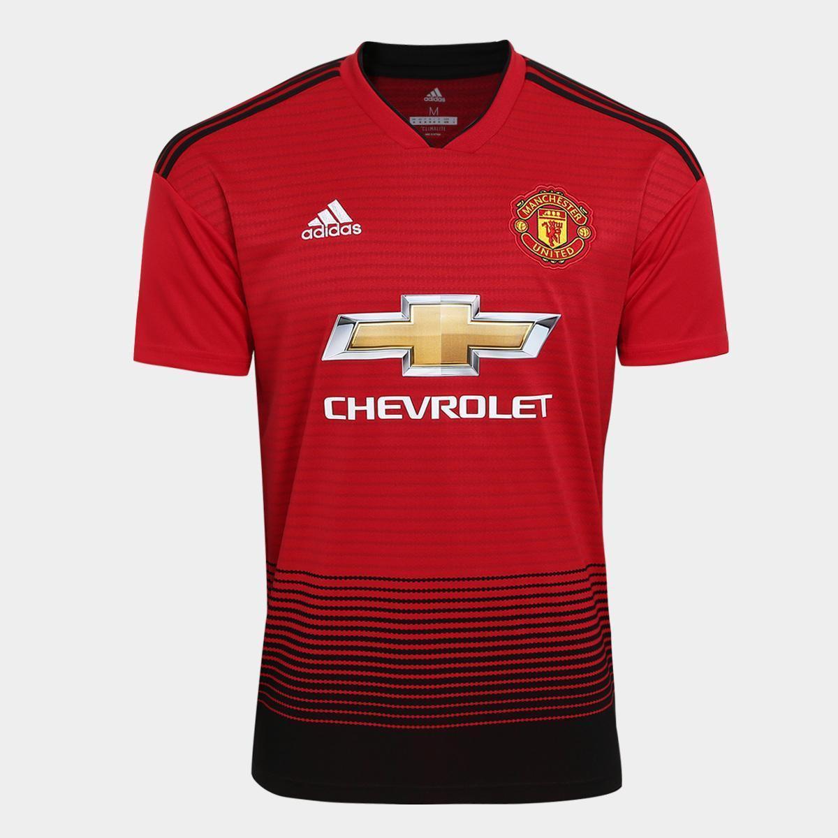 Camisa Manchester United Home 2018 s n° Torcedor Adidas Masculina ... 12ec5a18252bc