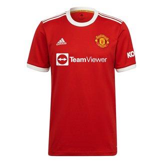 Camisa Manchester United Home 21/22 s/n° Torcedor Adidas Masculina