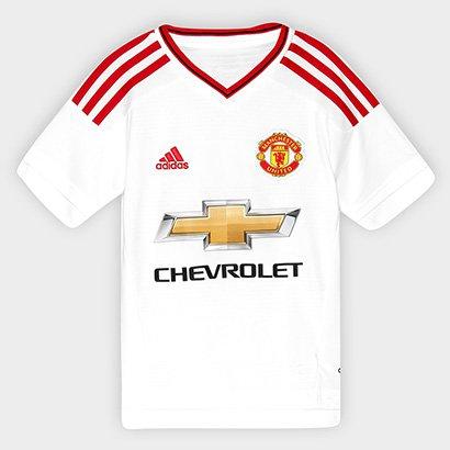 Camisa Manchester United Infantil Away 15/16 s/nº Torcedor Adidas