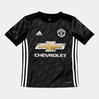 Camisa Manchester United Infantil Away 17/18 s/nº Torcedor Adidas