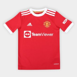 Camisa Manchester United Juvenil Home 21/22 s/n° Torcedor Adidas