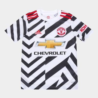 Camisa Manchester United Juvenil Third 20/21 S/N° Torcedor Adidas