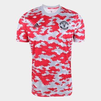 Camisa Manchester United Pré-Jogo 21/22 Adidas Masculina