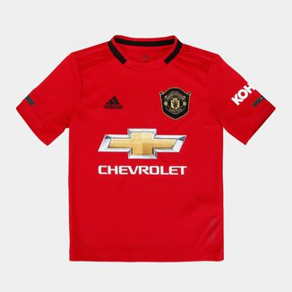 Camisa Manchester UnitedInfantil Home 19/20 s/n° Torcedor Adidas