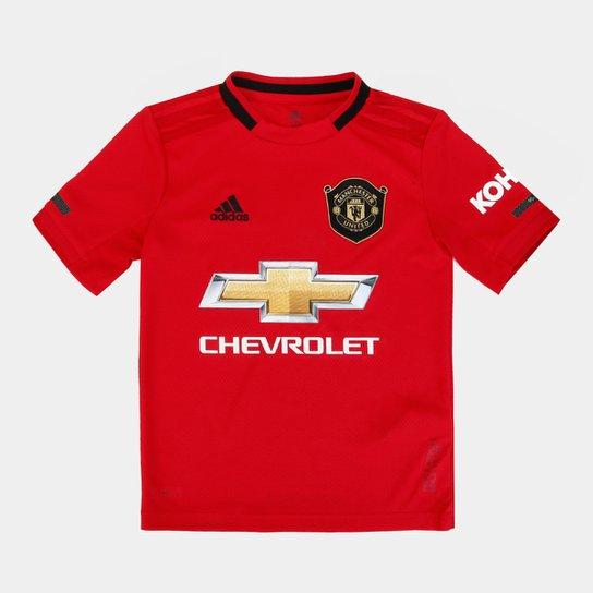 Camisa Manchester UnitedInfantil Home 19/20 s/n° Torcedor Adidas - Vermelho