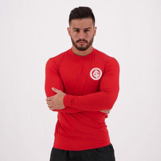 Camisa Manga Longa  Internacional Proteção UV Masculina - Vermelho