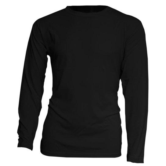 Camisa Manga Longa Praia - Preto