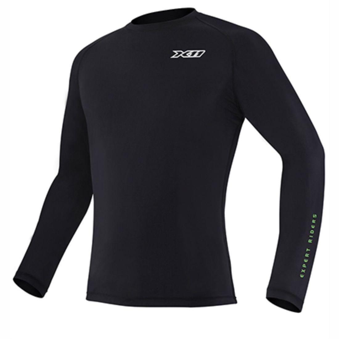Climate Segunda Proteção X11 Pele Longa UV50 Preto Manga Camisa 7Oqgn