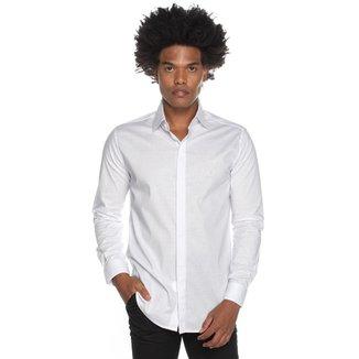 Camisa Manga Longa Super Slim Branca Médico Enfermeiro