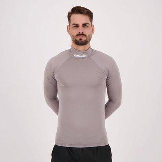 Camisa Manga Longa Térmica Reusch Underjersey Gola Alta  Masculina