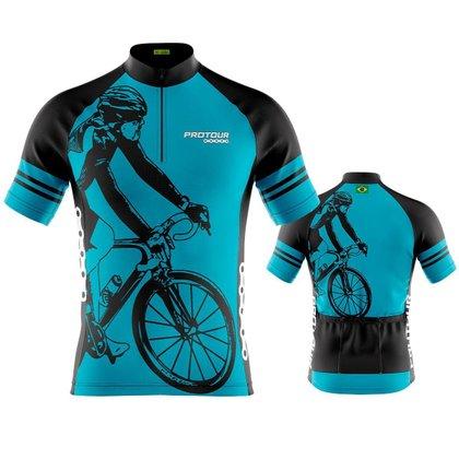 adidas crazy move pro fort wayne david williams Pro Tour Bike Azul dry fit proteção uv +50