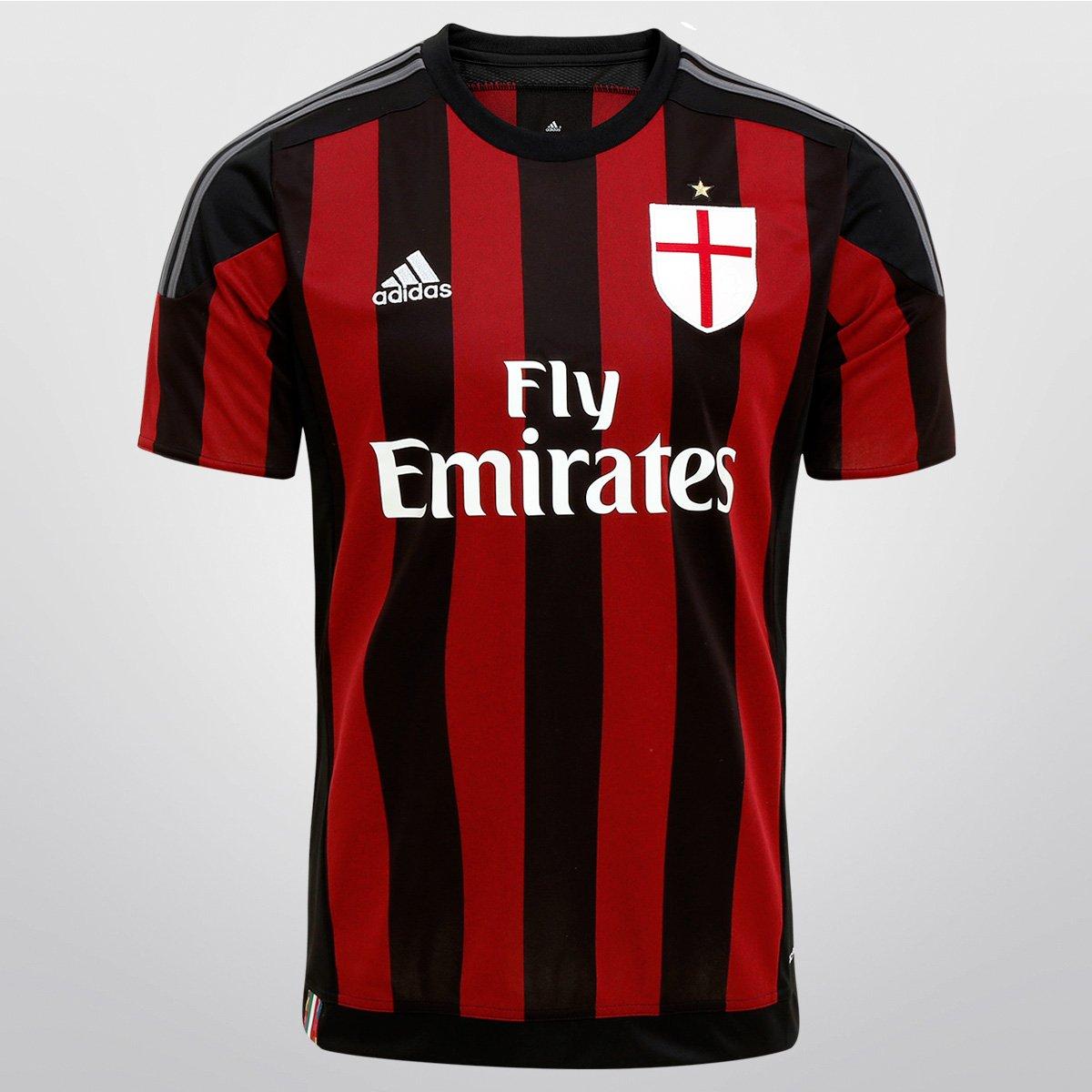 218c949685 Camisa Milan Home 15 16 s nº Torcedor Adidas Masculina - Compre Agora