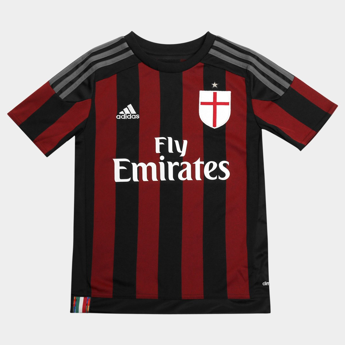 Camisa Milan Infantil Home 15 16 s nº Torcedor Adidas - Compre Agora ... b1b2807c44254