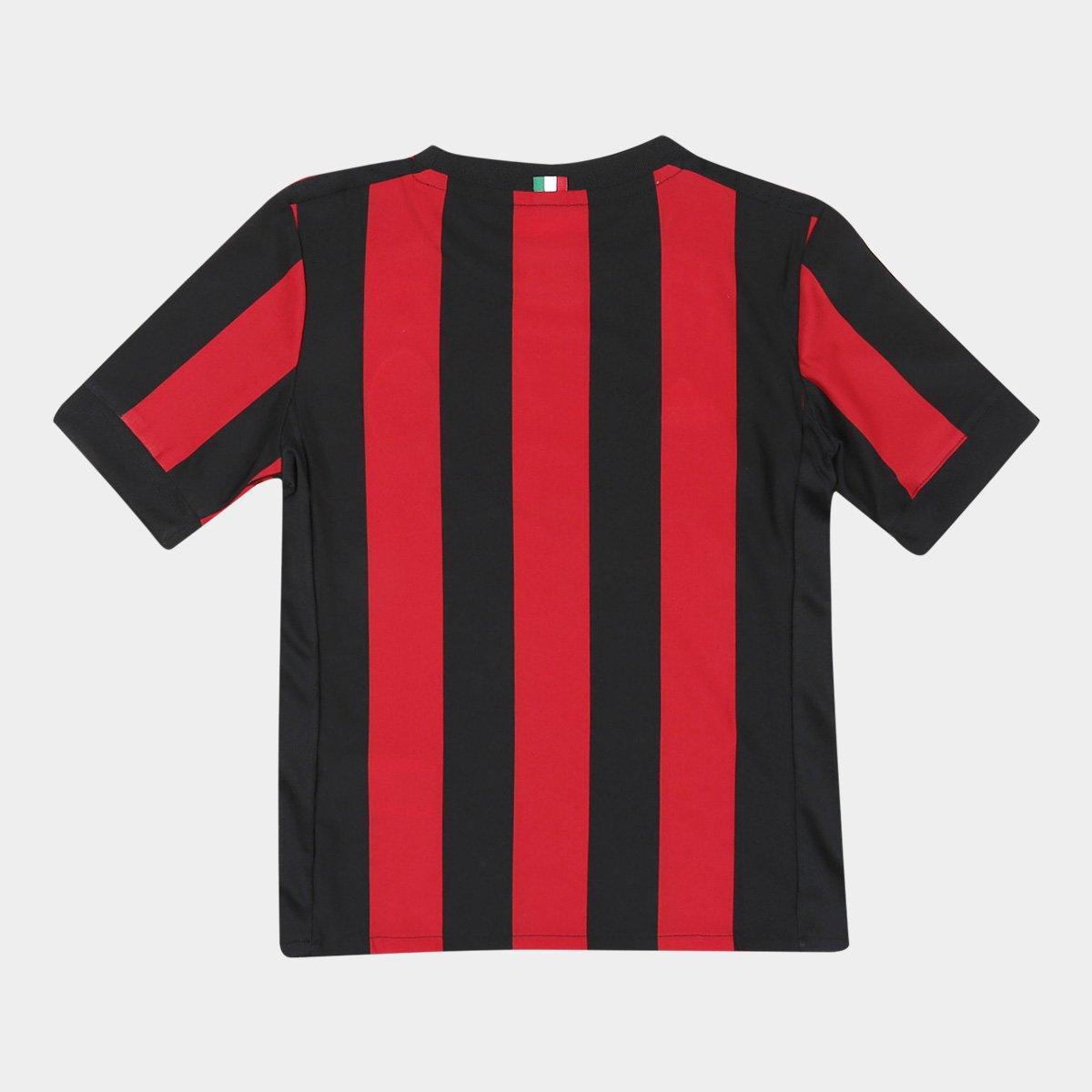 ... Home Preto Torcedor nº e Adidas Milan 18 17 Infantil s Camisa Vermelho  wPSExC00 ... 653b14822f958