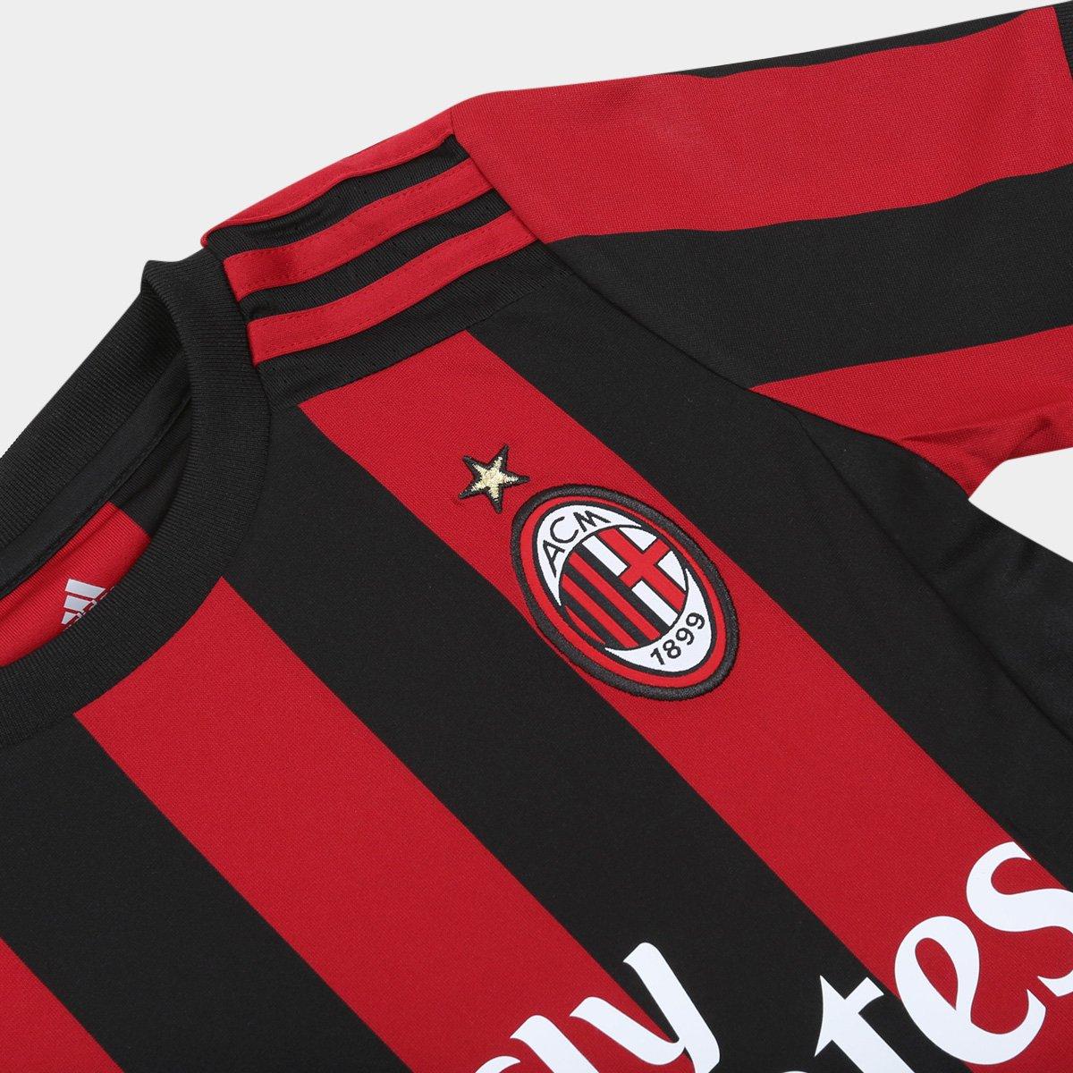Camisa Milan Infantil Home 17 18 s nº - Torcedor Adidas - Compre ... 8d4f1a3072adf