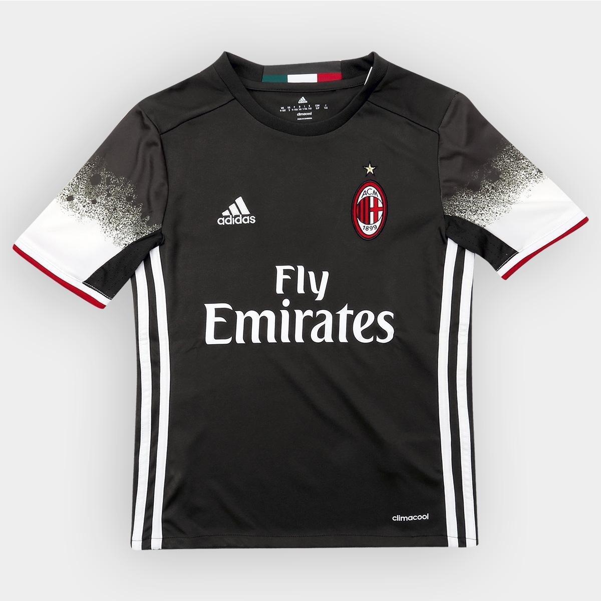 Camisa Milan Infantil Third 16 17 s nº Torcedor Adidas - Compre Agora  66d5555fb934b