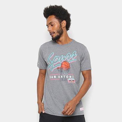 Camisa Mitchell & Ness Drive To The Basket San Antonio Spurs Masculina