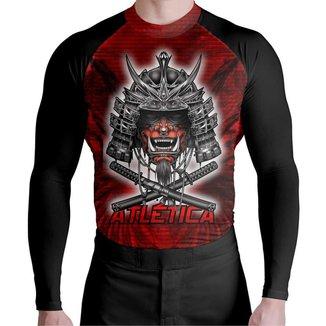 Camisa ML Lycra Red Samurai Atlética Esportes