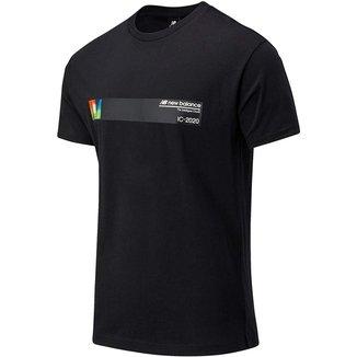 Camisa New Balance Style Optiks Earth Masculina - Preto